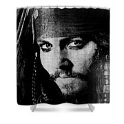 Pirate Life - Black And White Shower Curtain