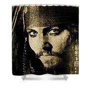 Pirate Life - Sepia Shower Curtain