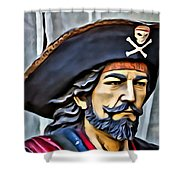 Pirate Man Shower Curtain