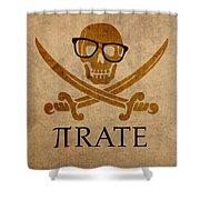 Pirate Math Nerd Humor Poster Art Shower Curtain