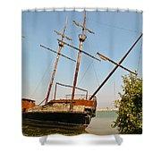 Pirate Ship Or Sailing Ship Shower Curtain