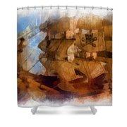 Pirate Ship Photo Art Shower Curtain