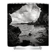 Pirate Treasure Cave Pa'iloa Beach Shower Curtain