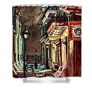 Pirate's Alley Evening Shower Curtain