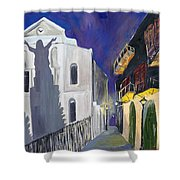 Pirate's Alley French Quarter Painting  Shower Curtain