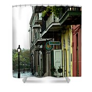 Pirates Alley In The Rain  Shower Curtain