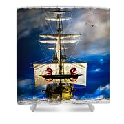 Pirates Shower Curtain by Bob Orsillo