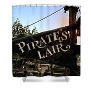 Pirates Lair Signage Frontierland Disneyland Shower Curtain