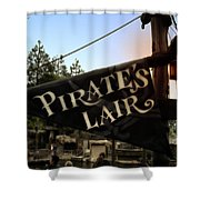 Pirates Lair Signage Frontierland Disneyland Shower Curtain