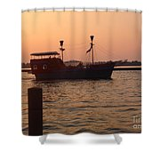 Pirates Of Lake Erie Shower Curtain