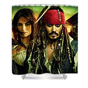Pirates Of The Caribbean Stranger Tides Shower Curtain