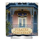 Pirates Signage New Orleans Disneyland Shower Curtain