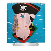 Piratess Of The Sea Shower Curtain