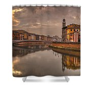 Pisa On The Arno Shower Curtain