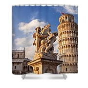 Pisa's Leaning Tower Shower Curtain by Brian Jannsen