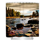 Piscataquis River Dover-foxcroft Maine Shower Curtain
