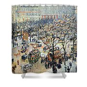 Pissarro's Boulevard Des Italiens In Morning Sunlight Shower Curtain
