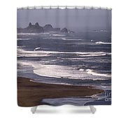 Pistol River Beach Shower Curtain