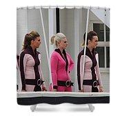 Pit Lane Girls Shower Curtain