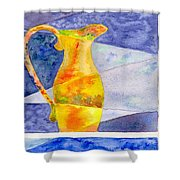 Pitcher 1 Shower Curtain