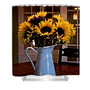Pitcher Of Sunflowers Shower Curtain