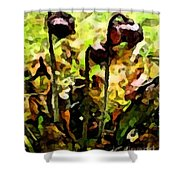 Pitcher Plant Abstraction Shower Curtain