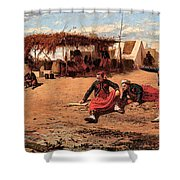 Pitching Quoits Shower Curtain