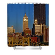 Pittsburg At Dusk Shower Curtain