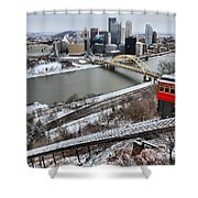 Pittsburgh Duquesne Incline Winter Shower Curtain
