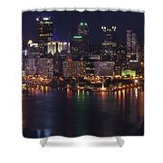Pittsburgh After The Setting Sun Shower Curtain