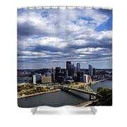 Pittsburgh After The Storm Shower Curtain