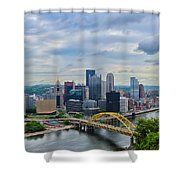 Pittsburgh And Above Shower Curtain