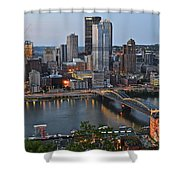 Pittsburgh Before Sunset Shower Curtain