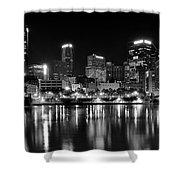 Pittsburgh Black And White Panorama Shower Curtain