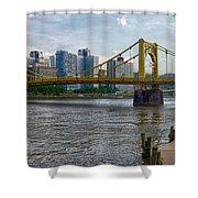Pittsburgh Clemente Bridge Shower Curtain