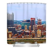 Pittsburgh From Grandview Shower Curtain