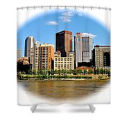 Pittsburgh Pa In The Spotlight Shower Curtain