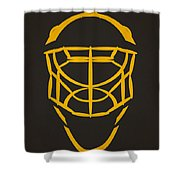 Pittsburgh Penguins Goalie Mask Shower Curtain