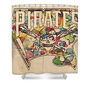 Pittsburgh Pirates Poster Art Shower Curtain