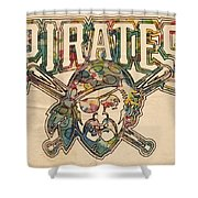 Pittsburgh Pirates Poster Vintage Shower Curtain