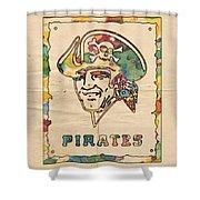 Pittsburgh Pirates Vintage Art Shower Curtain