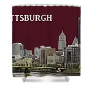 Pittsburgh Poster Shower Curtain