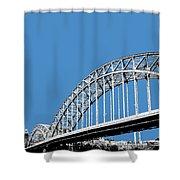Pittsburgh Skyline 16th St. Bridge - Slate Shower Curtain