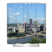 Pittsburgh Skyline From Mount Washington Shower Curtain