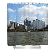 Pittsburgh Skyline From The Waterfront Shower Curtain