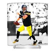 Pittsburgh Steelers Ben Roethlisberger Shower Curtain