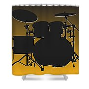 Pittsburgh Steelers Drum Set Shower Curtain