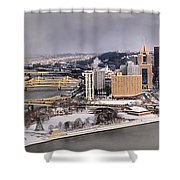 Pittsburgh's First Snow Of 2015 Shower Curtain