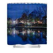 Pittsford On The Erie Canal Shower Curtain