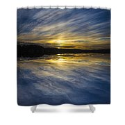 Pittwater Sunset Abstract Shower Curtain